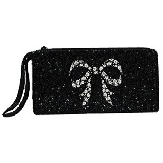 Cosmetic Pouch Wristlet Bow Bag