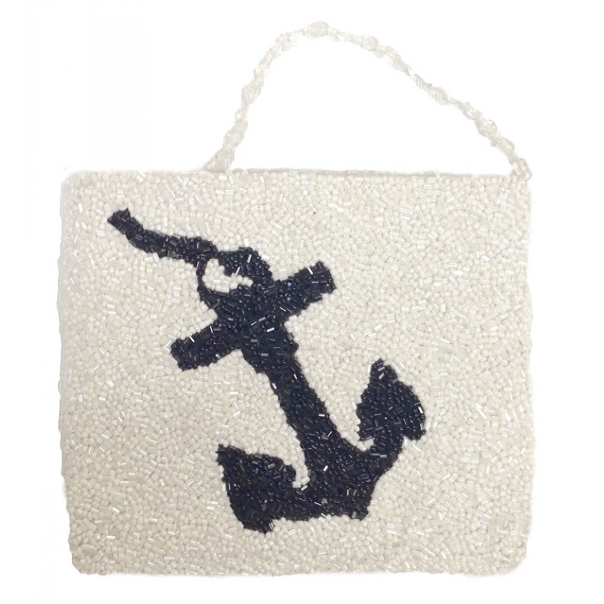 Cross Body Pouch with Anchor Motif