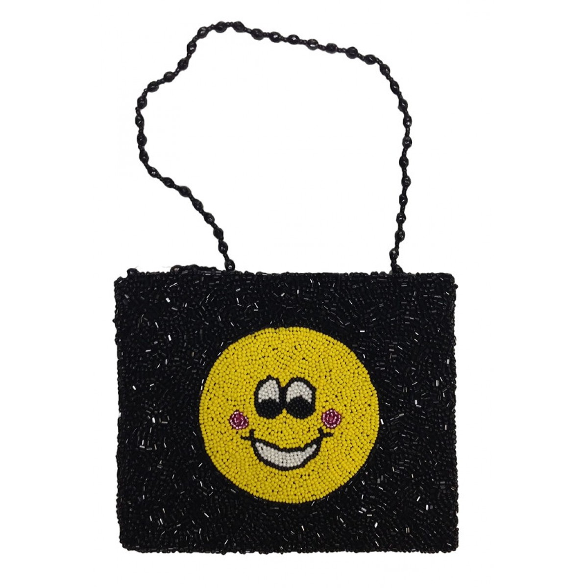 Cross Body Pouch with Smiley Face Motif