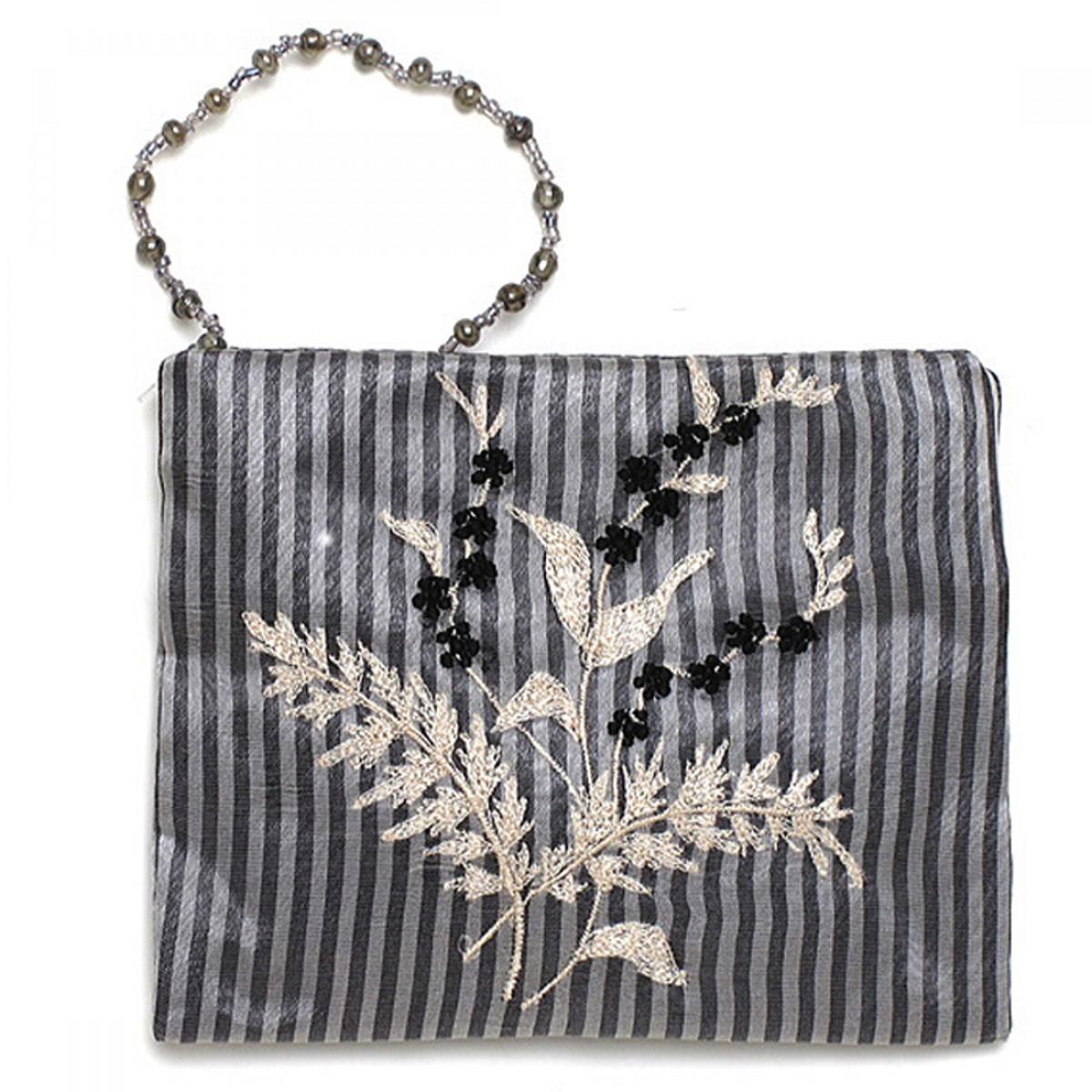 Crossbody Silk Embroidered Purse