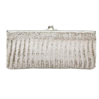 Crotched yarn with Glass Beading Clutch