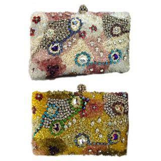 Crystal and Stone Box Bag