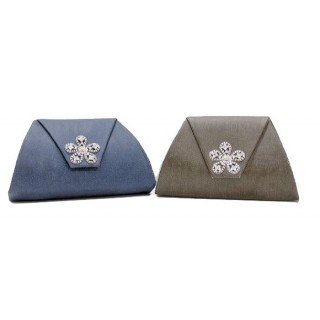 Crystal Broach Clutch with Strap