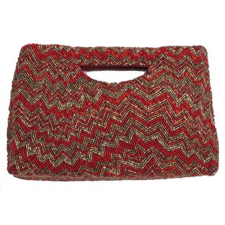 Cut Out Handle Tote with Irregular Zigzag
