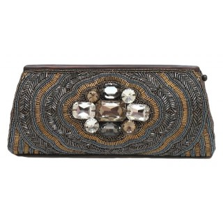 Cylinder Clutch with Crystal Embellishments