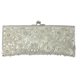 Elegant Crystal Beaded Clutch