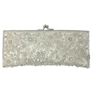 Elegant Crystal Beaded Clutch