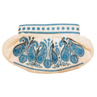 Embroidered Cotton Clutch