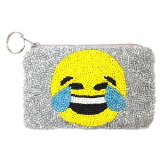 Emoji Beaded Coin Purse