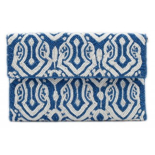 Envelope Clutch Beaded Print
