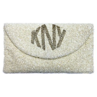 Envelope Clutch Diamond Font Monogram