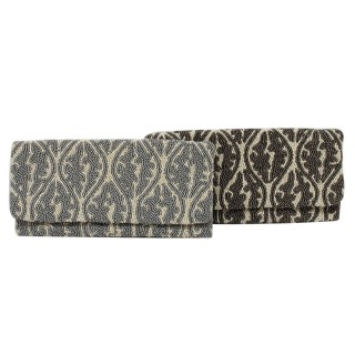 Filagree Print Clutch