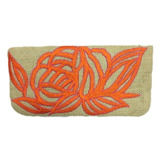 Floral Embroidered Purse