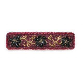 Flower Beaded Narrow Head Band
