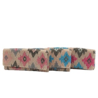 Fold Over Clutch Beaded Print