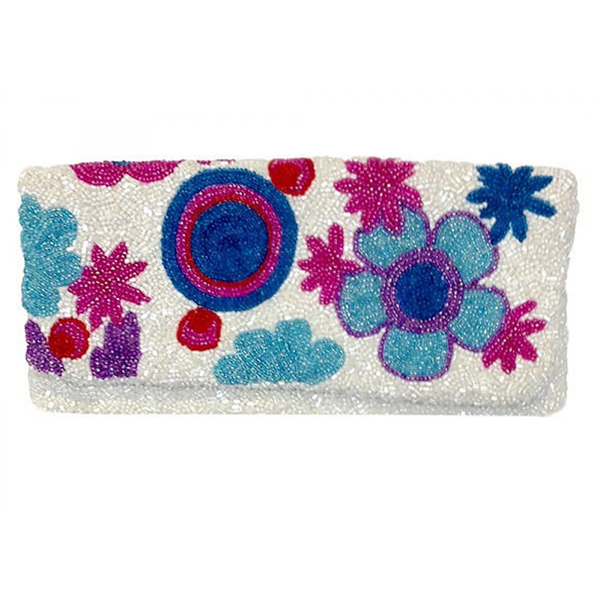 Fold Over Clutch Floral Pattern