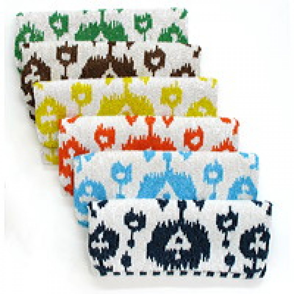 Fold Over Clutch Ikat