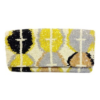 Fold Over Clutch Ikat Pattern