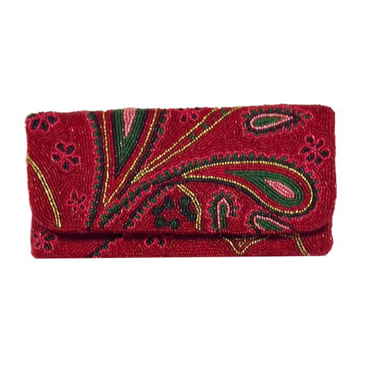 Fold Over Clutch Paisley Pattern