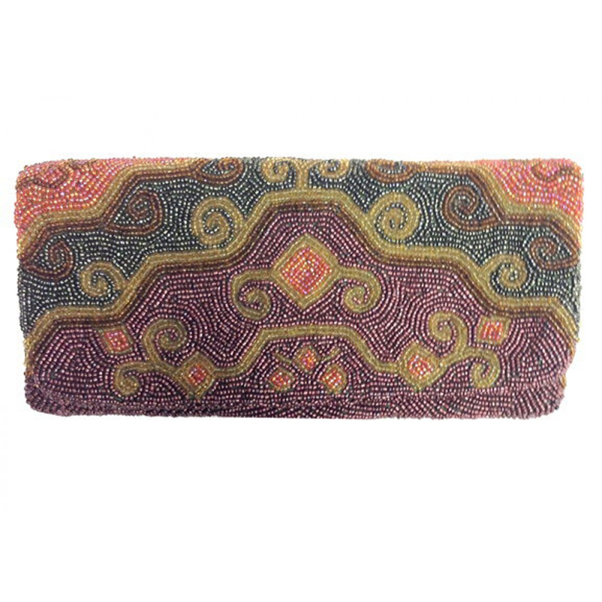 Fold Over Clutch Tribal Pattern