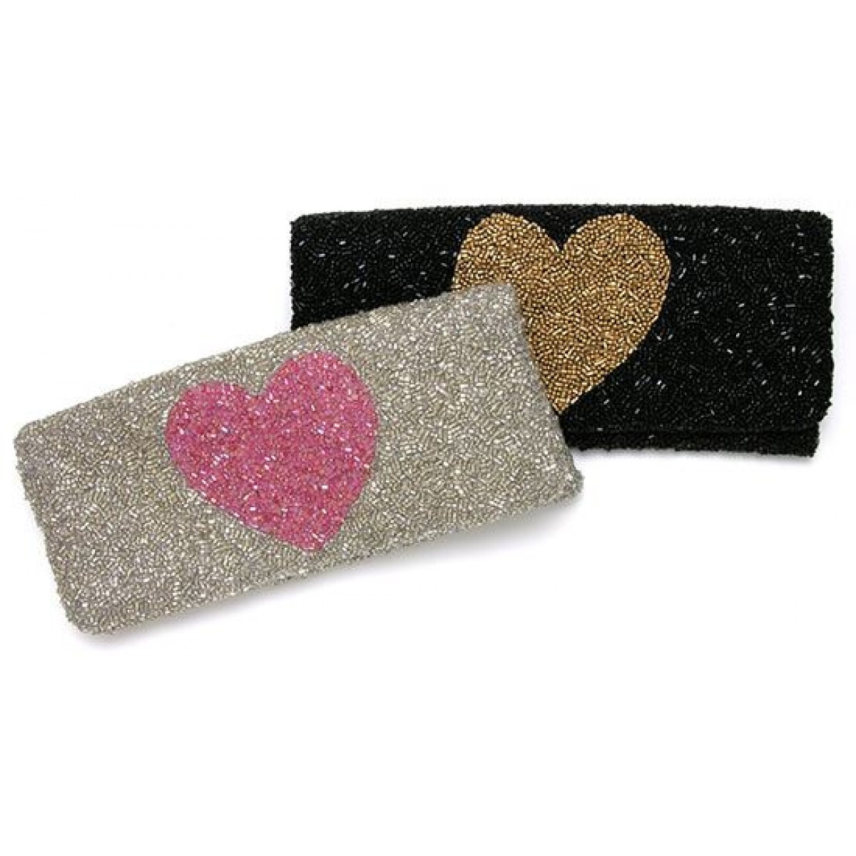 Fold Over Clutch with Heart