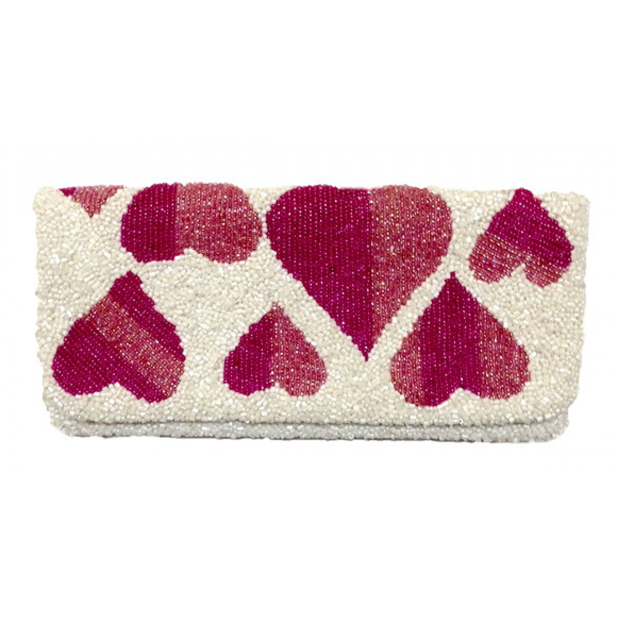 Fold Over Clutch with Hearts