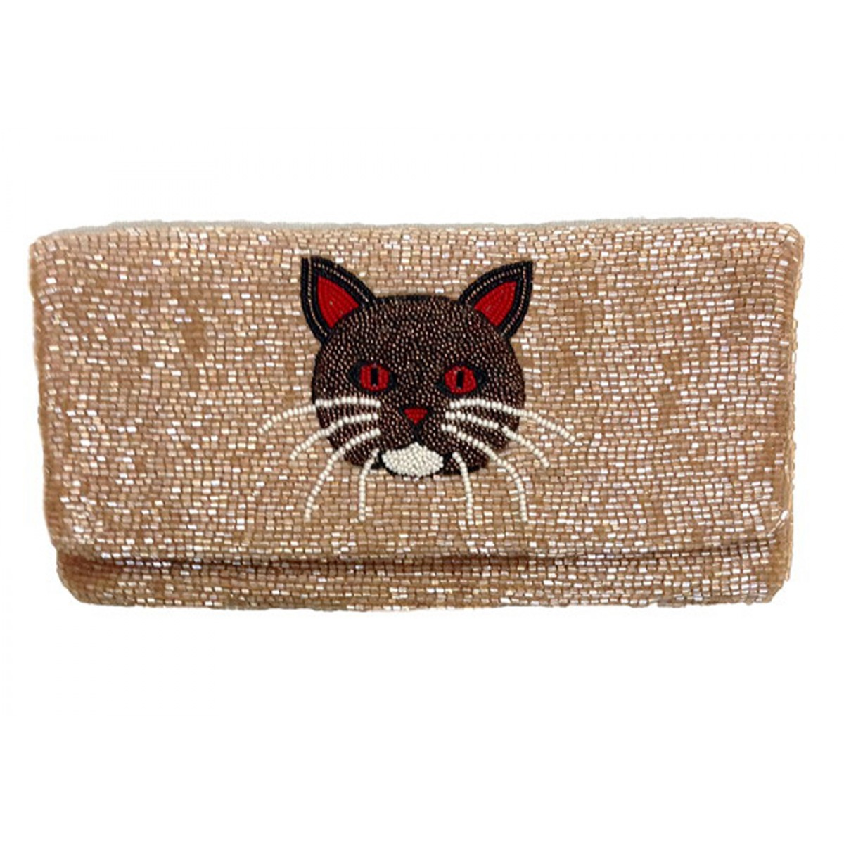 Fold Over Clutch with Martini Motif
