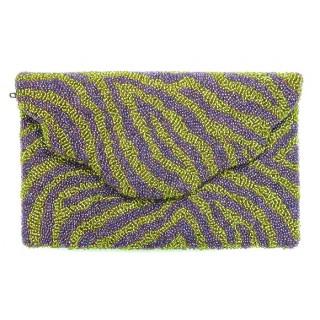 Fold Over Clutch Zebra Design