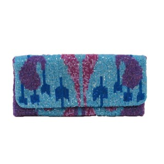 Fold Over Ikat Beaded Pattern