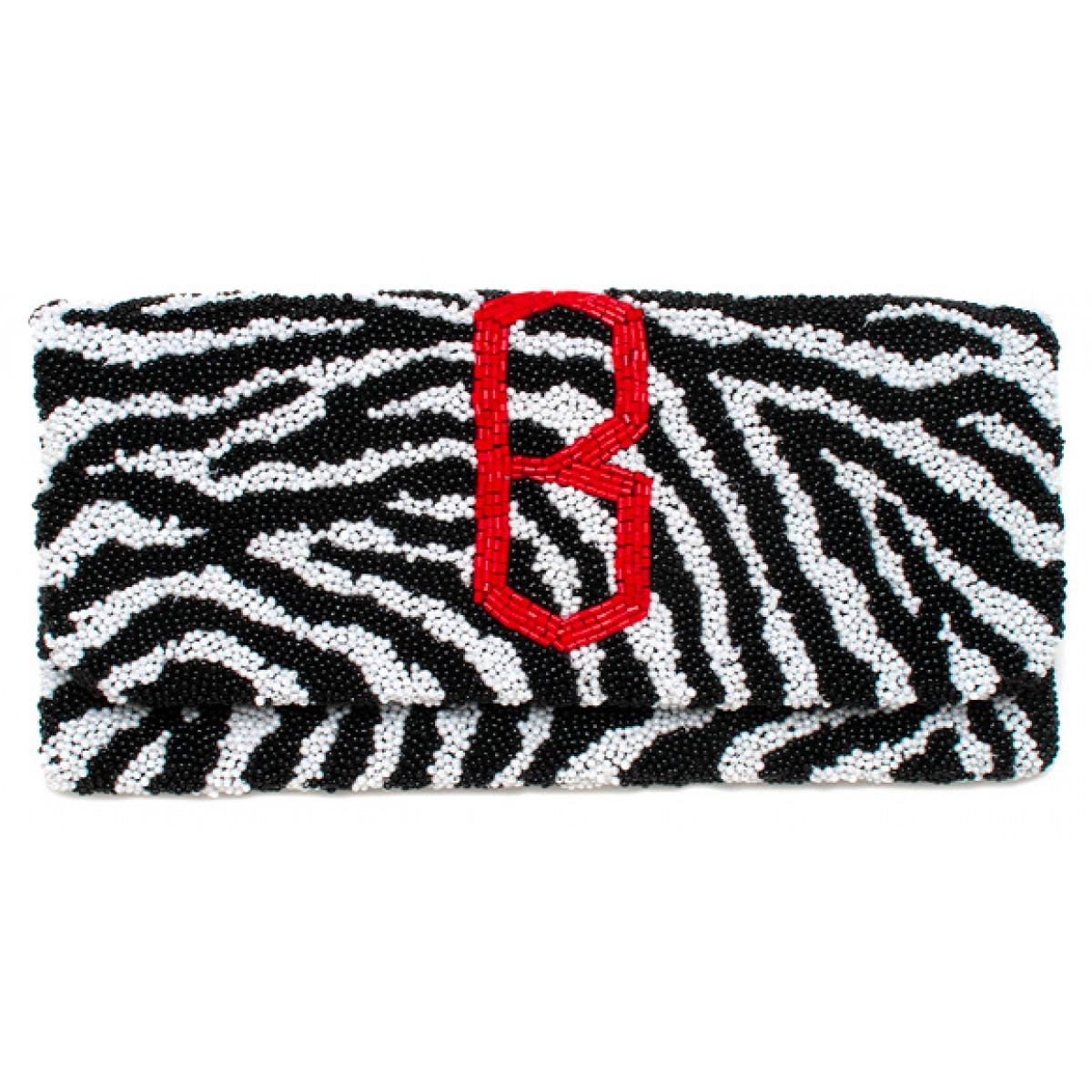 Fold Over Zebra Diamond Monogram