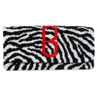Fold Over Zebra Diamond Monogram