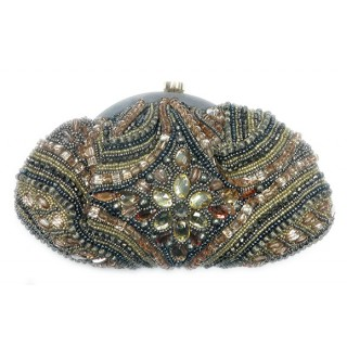 Frame Pouch Crystal and Beaded