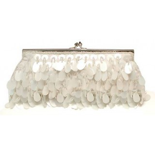 Framed Slim Clutch with Paillettes