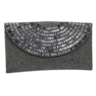 Round Flap Art Deco Clutch
