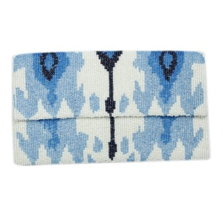 Flap Clutch Ikat Pattern