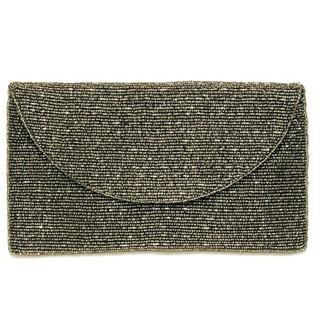 Fully Beaded Fold Over Clutch
