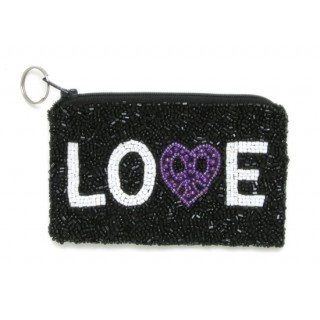 Fully Beaded Love Bag