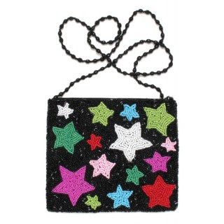 Fully Beaded Star Bag