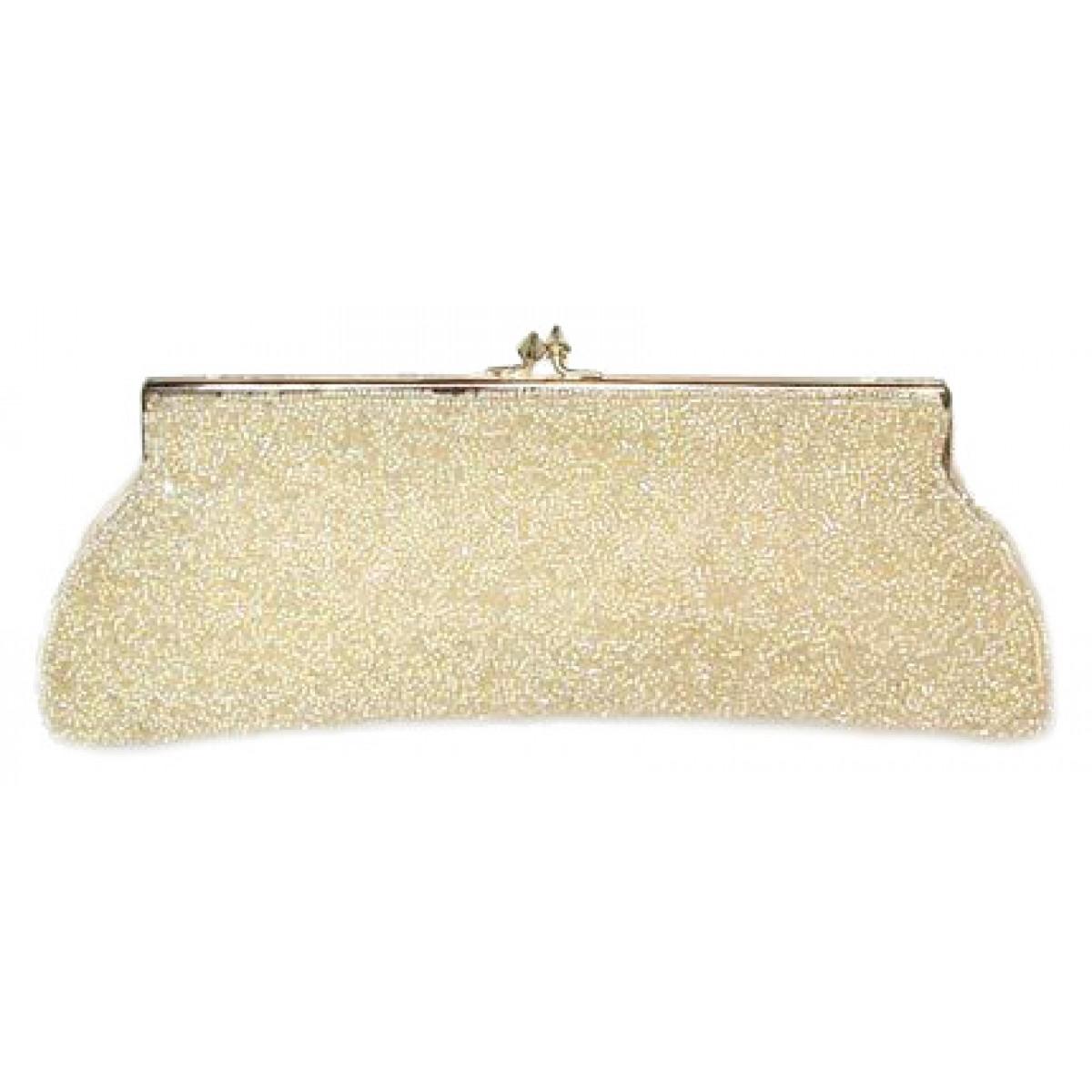 Golden Bridal Beaded Bag