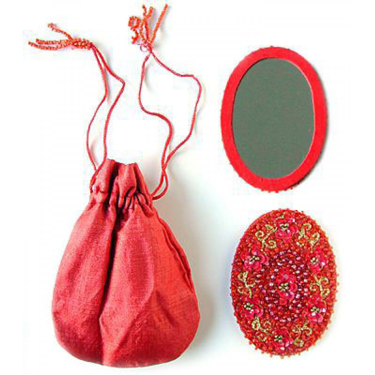 Handheld Mirror in a Little Sac