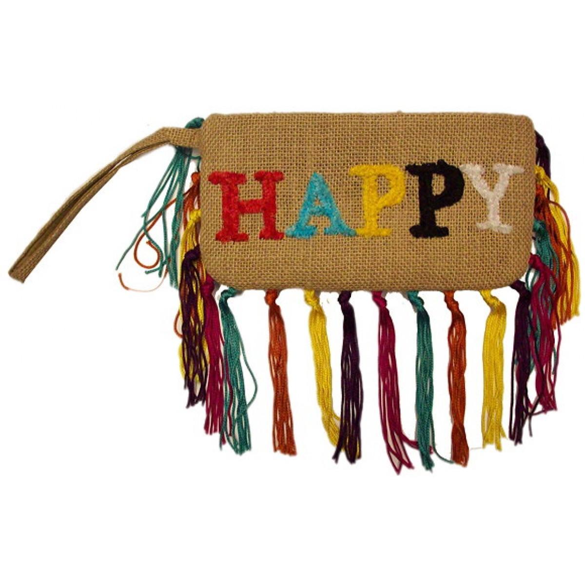 HAPPY Zipper Pouch