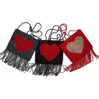 Heart Fringe Bag