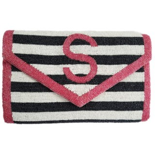 Horizontal Stripes Monogram Large Clutch