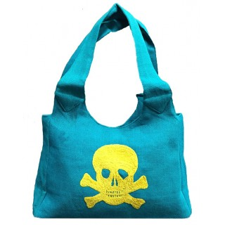 Jute Bag with Shaneel Skull