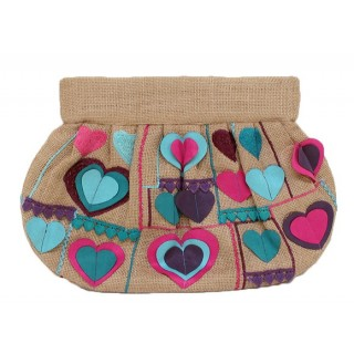 jute Embroidered Clutch
