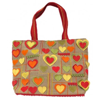 Jute Embroidered Tote