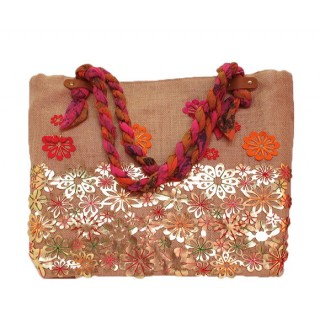 Jute Laser Cut Out Floral Work