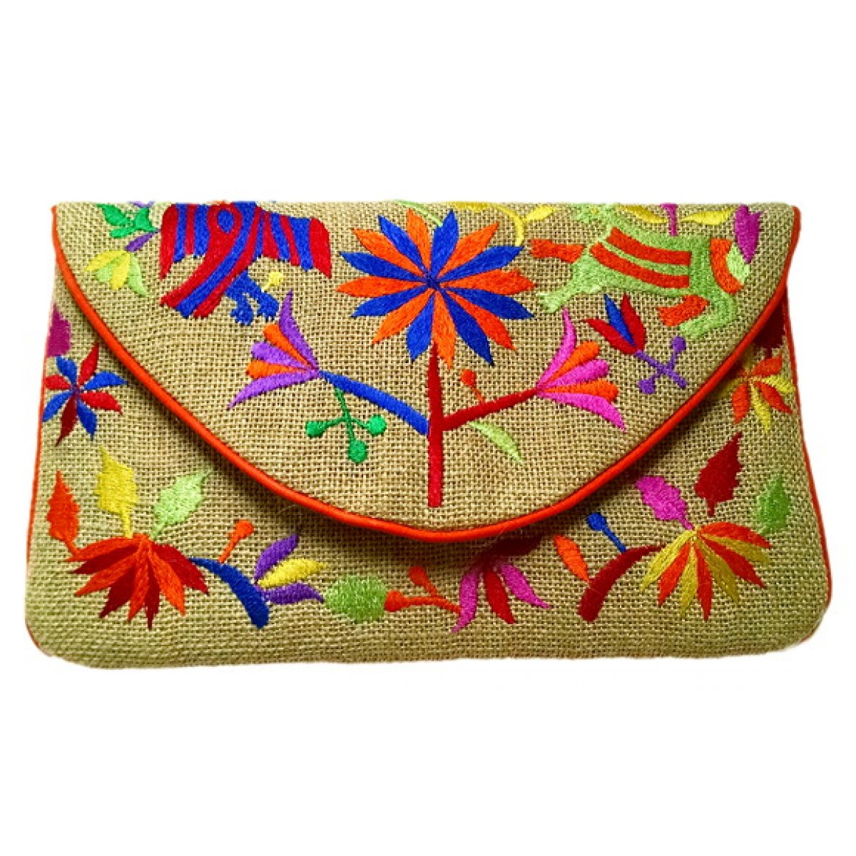 Jute Tribal Embroidery Clutch