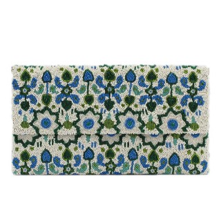 Large Envelope Clutch Beaded Tribal Print