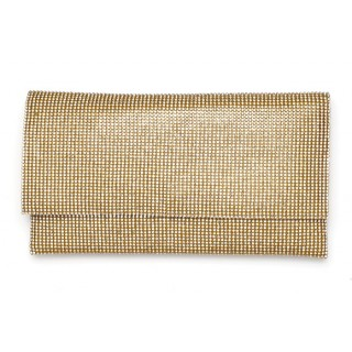 Large Envelope Crystal Mesh Clutch